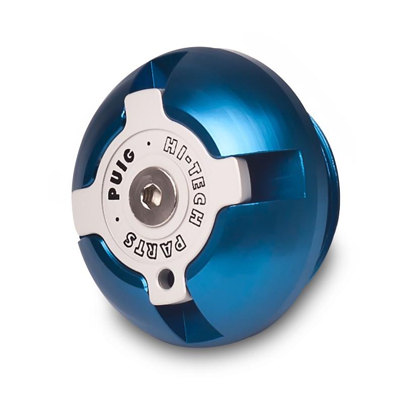 CNC Ölstopfen Puig Kawasaki EL 252 Eliminator 96-03 blau