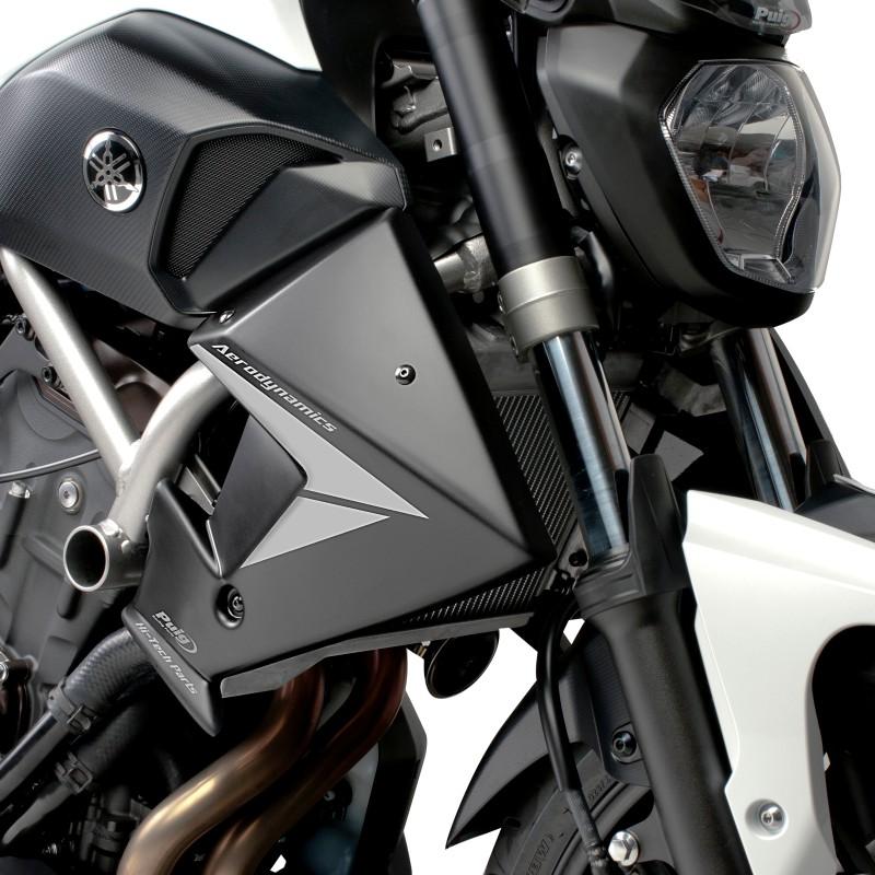 Kühler Seitenverkleidung Puig Yamaha MT-07 13-17 schwarz matt