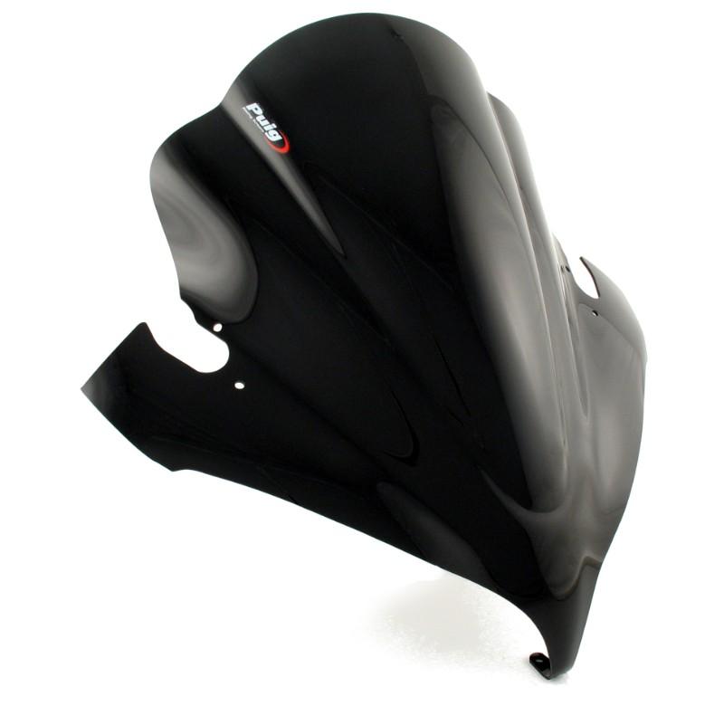 bulle racing puig yamaha fz6 fz 6 fazer 04 06 noir. Black Bedroom Furniture Sets. Home Design Ideas