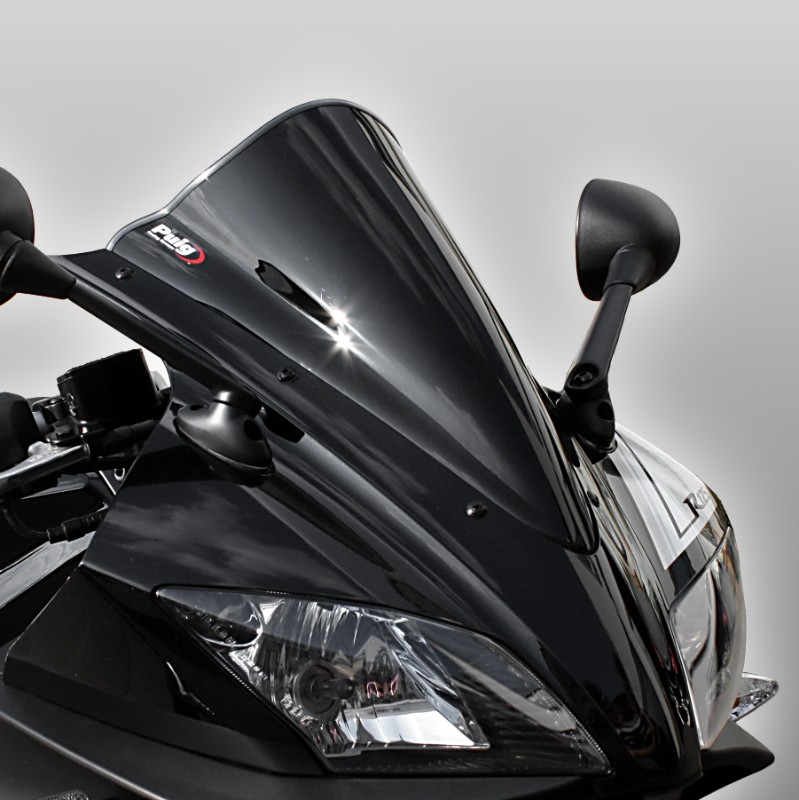 racing scheibe puig yamaha yzf r 125 08 16 schwarz. Black Bedroom Furniture Sets. Home Design Ideas