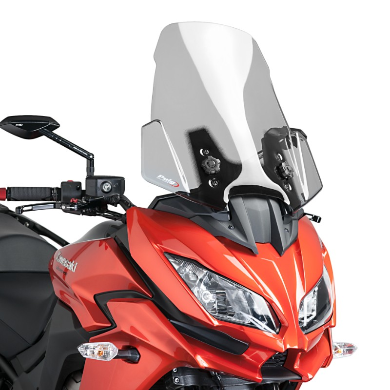 windshield touring puig kawasaki versys 650 2015 light smoke spoiler screen ebay. Black Bedroom Furniture Sets. Home Design Ideas