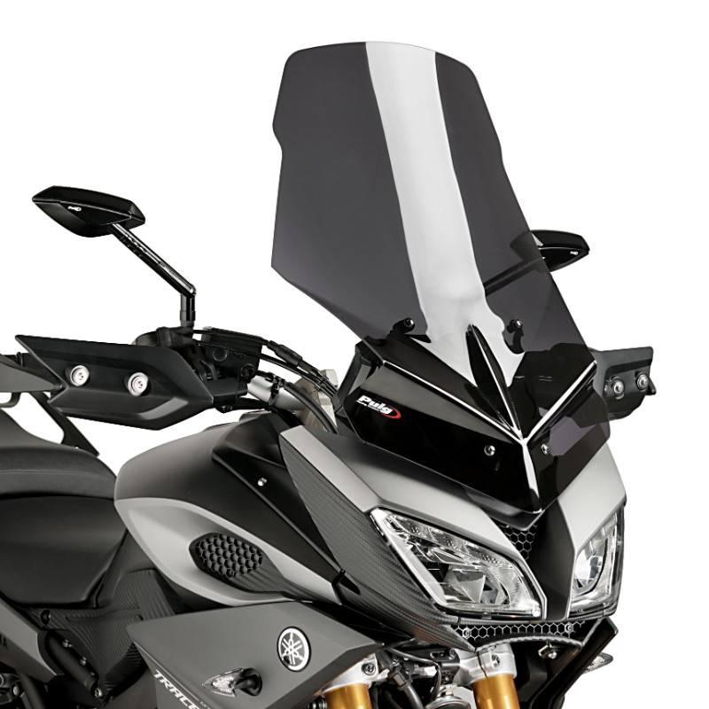windshield touring puig yamaha mt 09 tracer 15 18 dark smoke. Black Bedroom Furniture Sets. Home Design Ideas