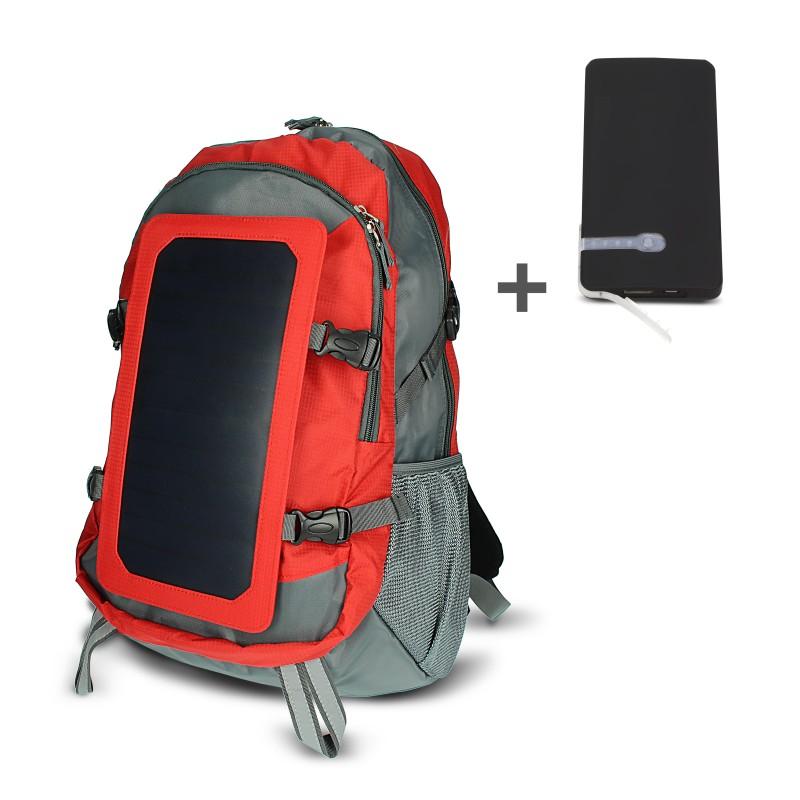 Regolatore Pannello Solare Zaino : Zaino con pannello solare usb rosso batteria mah