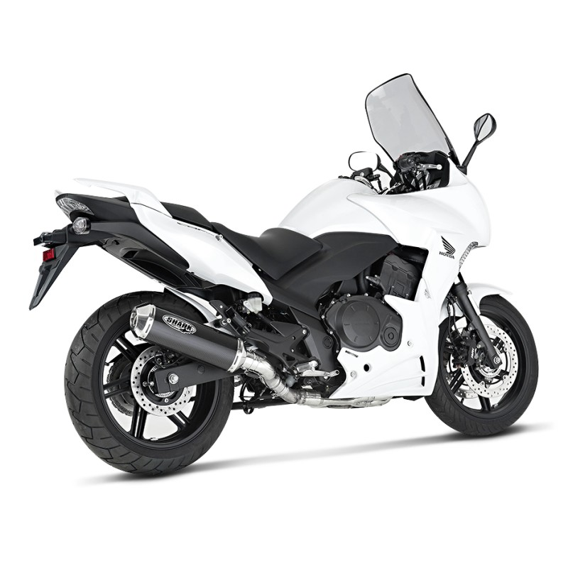 exhaust silencer shark honda cbf 1000 f 10 14 dsx 1. Black Bedroom Furniture Sets. Home Design Ideas