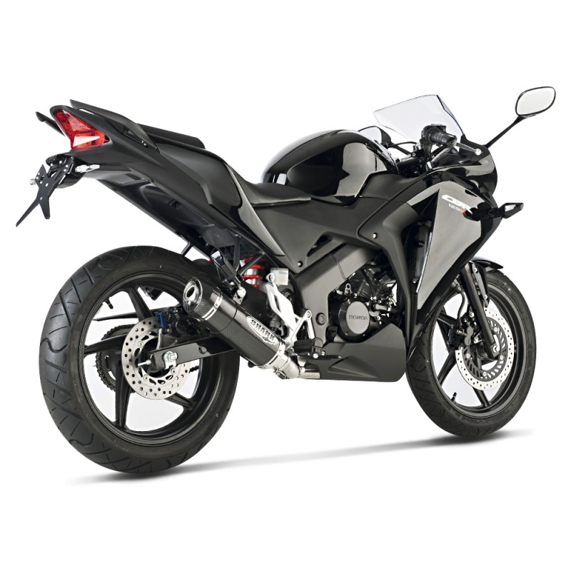 exhaust silencer shark street gp honda cbr 125 r 11 16 carbon ebay. Black Bedroom Furniture Sets. Home Design Ideas