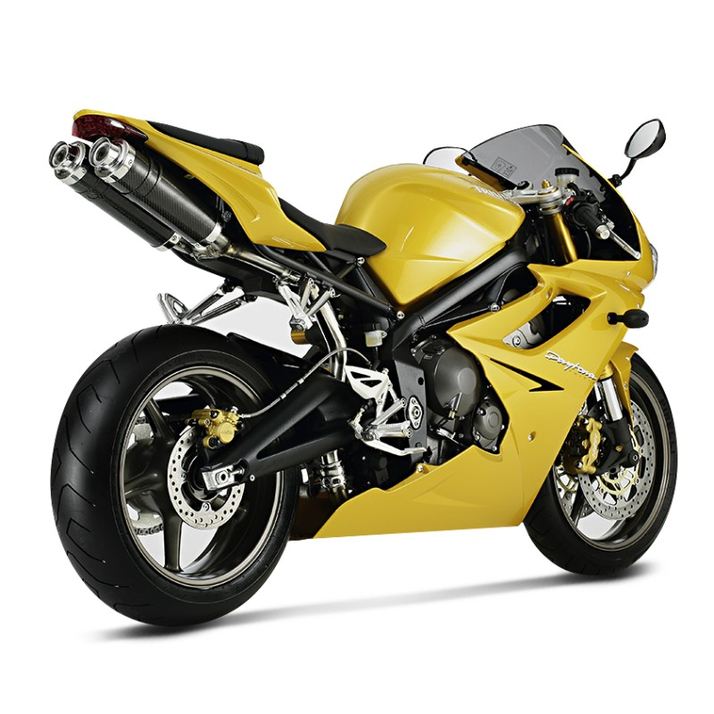 exhaust silencer shark triumph daytona 675 06 12 track 1000. Black Bedroom Furniture Sets. Home Design Ideas