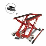 Motorcycle Jack Scissor Hydraulic Lift ConStands XL red incl. 4 rubber blocks