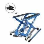 Motorcycle Jack Scissor Hydraulic Lift ConStands XL blue incl. 4 rubber blocks
