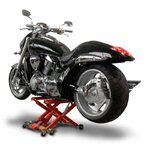 Motorrad Hebebühne Scherenheber Hydraulik-Lift ConStands XL rot