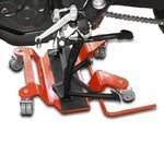 Motorrad Rangierplatte für Hauptständer ConStands Rot Pic:1