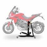 Motorrad Zentralständer ConStands Power Ducati Multistrada 1200 10-14, Adapter+Rollen inkl. schwarz matt