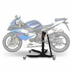 Motorrad Zentralständer ConStands Power Suzuki GSX-R 1000 05-08, Adapter+Rollen inkl. schwarz matt