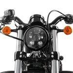 Hauptscheinwerfer Craftride LED 5,75 Zoll für Harley Davidson schwarz Pic:4