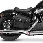 Motorrad Satteltasche für Custom Bikes Montana schwarz links Pic:2