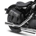 Motorrad Satteltasche für Custom Bikes Montana schwarz links Pic:3