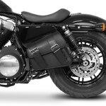 Motorrad Satteltasche für Custom Bikes Montana schwarz rechts Pic:2