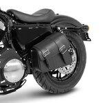 Motorrad Satteltasche für Custom Bikes Montana schwarz rechts Pic:3