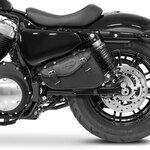 Motorrad Satteltasche für Custom Bikes Arizona schwarz rechts Pic:2