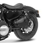 Motorrad Satteltasche für Custom Bikes Arizona schwarz rechts Pic:3