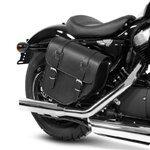 Motorrad Satteltasche für Custom Bikes Texas schwarz links Pic:2