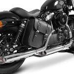 Motorrad Satteltasche für Custom Bikes Texas schwarz links Pic:3