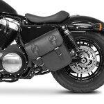 Motorrad Satteltasche für Custom Bikes Texas schwarz rechts Pic:2