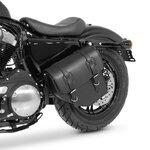 Motorrad Satteltasche für Custom Bikes Texas schwarz rechts Pic:3