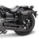 Motorrad Satteltasche für Custom Bikes Arizona schwarz links Pic:1