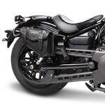 Motorrad Satteltasche für Custom Bikes Arizona schwarz rechts Pic:1