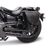 Motorrad Satteltasche für Custom Bikes Indiana schwarz links Pic:1