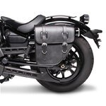 Motorcycle Saddlebag For Custom Bikes Texas black left