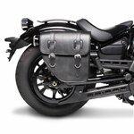 Motorcycle Saddlebag For Custom Bikes Texas black right