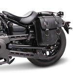 Motorrad Satteltasche für Custom Bikes Texas schwarz links Pic:1
