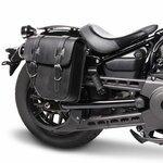 Motorrad Satteltasche für Custom Bikes Texas schwarz rechts Pic:1