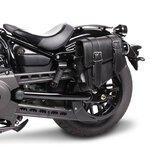 Motorrad Satteltasche für Custom Bikes Montana schwarz links Pic:1