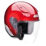 Motorcycle Jet helmet GIVI 30.3 TWEET red - S