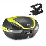 Top Case Set Piaggio Xevo 250 07-11 Givi Monokey V47NNTFL nero / neon-giallo