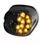 Fanale posteriore a LED + frecce per Harley Harley Davidson Fat Boy Special (FLSTFB) 10-14 fume