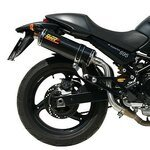 Exhaust MIVV Oval 2 Ducati Monster 600 99-01 Carbon (High level)