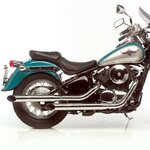 Auspuff Silvertail K02 Kawasaki VN 900 Classic 06-15