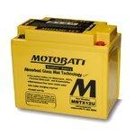 Motorradbatterie AGM Motobatt MBTX12U