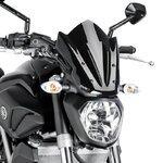 Windschild Puig Sport Yamaha MT-07 13-18 schwarz