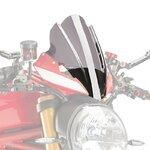 Windschild Touring Ducati Monster 1200 R 2016 Puig Naked New Generation rauchgrau