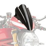 Windschild Touring Ducati Monster 1200 R 2016 Puig Naked New Generation schwarz