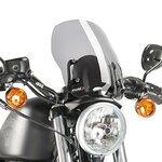 Windschild Touring für Harley Davidson Sportster 883 R Roadster (XL 883 R) 02-15 Puig Naked New Generation rauchgrau