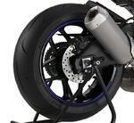 Motorrad Felgenrandaufkleber Premium blau