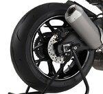 Motorrad Felgenrandaufkleber Premium weiß