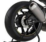Motorrad Felgenrandaufkleber Premium gelb