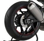 Motorrad Felgenrandaufkleber Premium rot