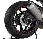 Motorrad Felgenrandaufkleber Premium orange